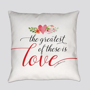 Greatest Love Everyday Pillow