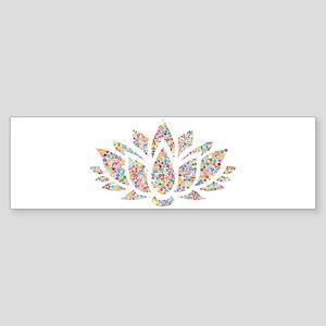 Circle Lotus Bumper Sticker
