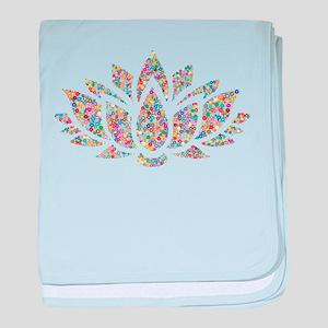 Circle Lotus baby blanket