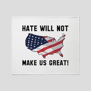 Hate Will Not Make US Great Stadium Blanket