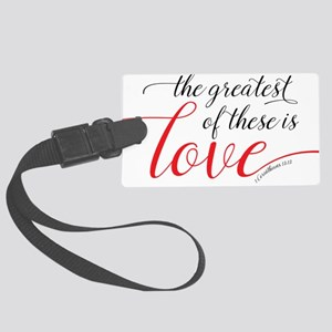 Greatest Love Large Luggage Tag