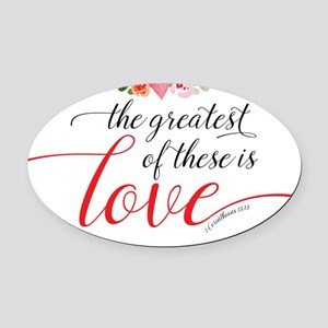 Greatest Love Oval Car Magnet