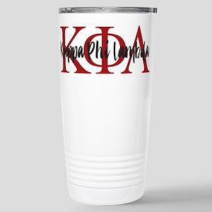 Kappa Phi Lambda Letter Stainless Steel Travel Mug