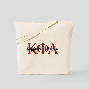 Kappa Phi Lambda Letters Logo Tote Bag