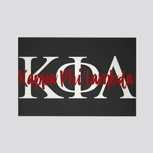 Kappa Phi Lambda Letters Logo Rectangle Magnet