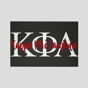Kappa Phi Lambda Letters Logo Rectangle Magnet