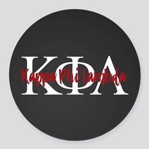 Kappa Phi Lambda Letters Logo Round Car Magnet