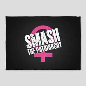 Smash the Patriarchy 5'x7'Area Rug