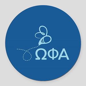 Omega Phi Alpha Sorority Round Car Magnet