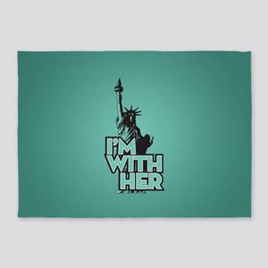Lady Liberty - Im With Her 5'x7'Area Rug