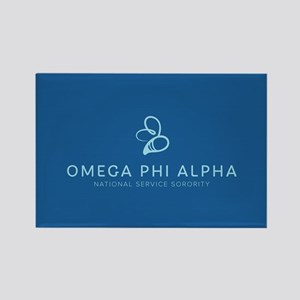 Omega Phi Alpha Sorority Name and Rectangle Magnet