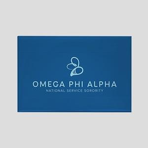Omega Phi Alpha Sorority Name and Rectangle Magnet