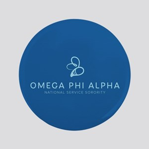 Omega Phi Alpha Sorority Name and Bee Symbo Button