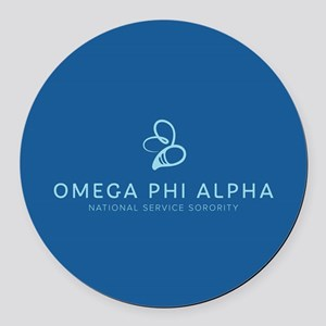 Omega Phi Alpha Sorority Name and Round Car Magnet