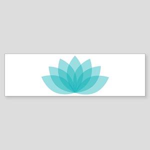 Blue Lotus Bumper Sticker