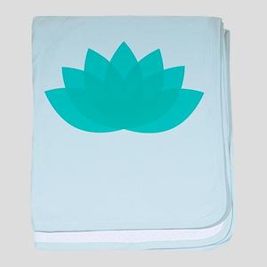 Blue Lotus baby blanket