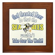 God Created Beer - SeaBees Framed Tile