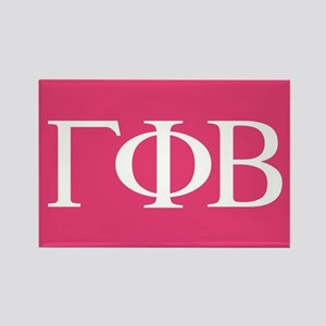 Gamma Phi Beta Letters Rectangle Magnet