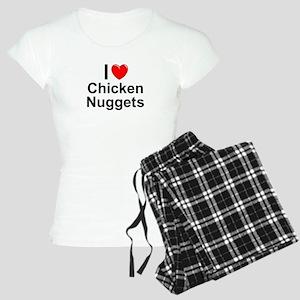 Chicken Nuggets Women's Light Pajamas