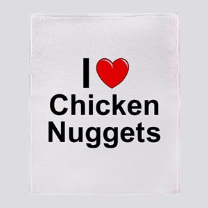 Chicken Nuggets Throw Blanket