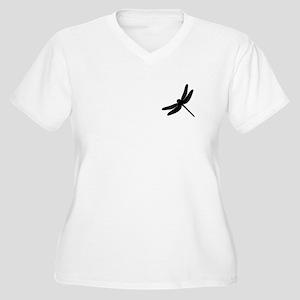 Dragonfly Women's Plus Size V-Neck T-Shirt