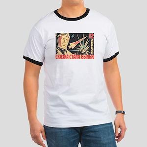 soviet astronaut space propaganda T-Shirt