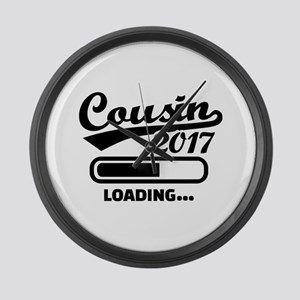 Cousin 2017 Large Wall Clock