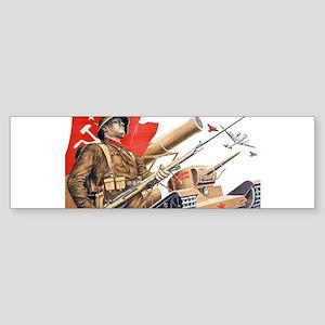 WWii soviet union propaganda Bumper Sticker