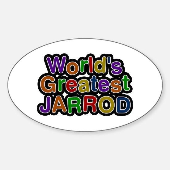 World's Greatest Jarrod Oval Decal