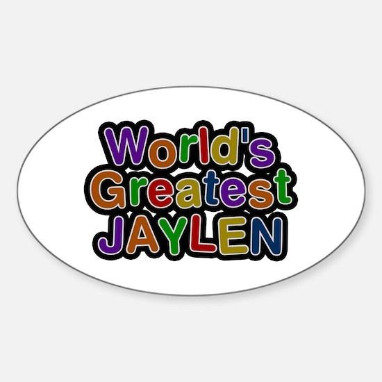 World's Greatest Jaylen Oval Decal