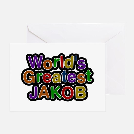 World's Greatest Jakob Greeting Card