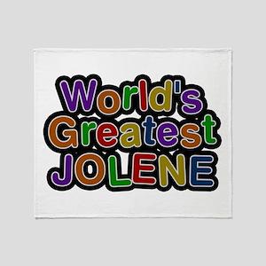 World's Greatest Jolene Throw Blanket