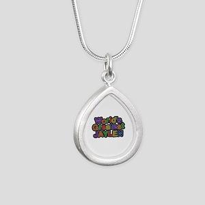 World's Greatest Jaylen Silver Teardrop Necklace