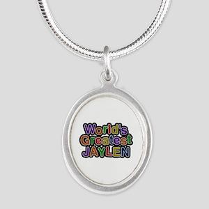 World's Greatest Jaylen Silver Oval Necklace