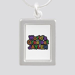World's Greatest Jaylen Silver Portrait Necklace