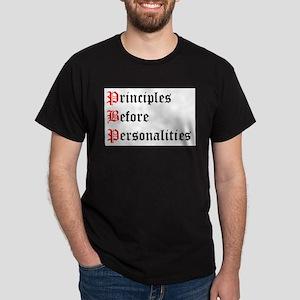 Principles Before Personalities Ash Grey T-Shirt