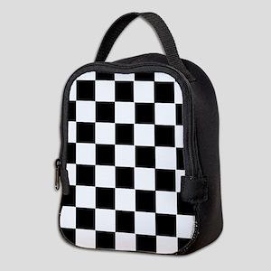 Checkered Neoprene Lunch Bag