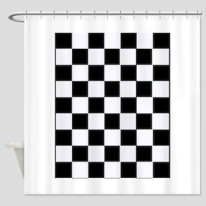 Checkered Shower Curtain
