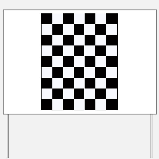 Checkered Yard Sign