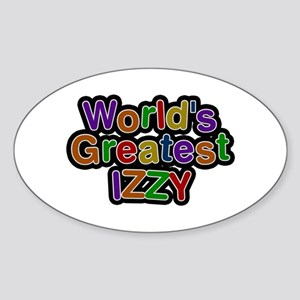 World's Greatest Izzy Oval Sticker