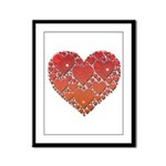 Hearts of Love Framed Panel Print