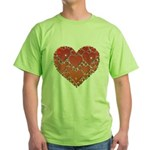 Hearts of Love Green T-Shirt