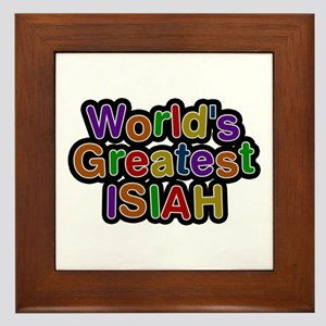 World's Greatest Isiah Framed Tile