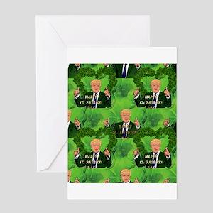 st patricks day donald trump Greeting Cards