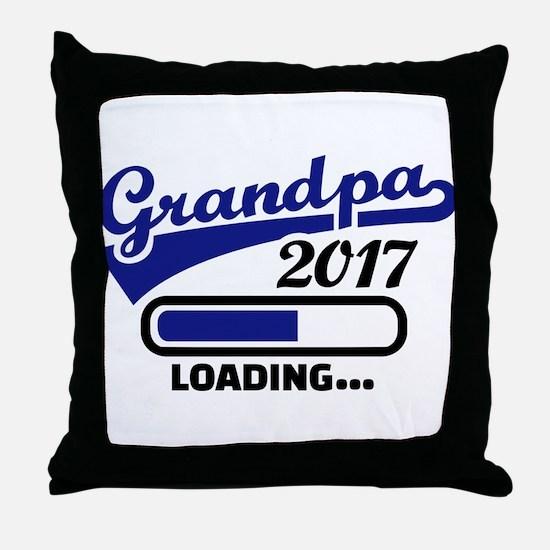 Grandpa 2017 Throw Pillow