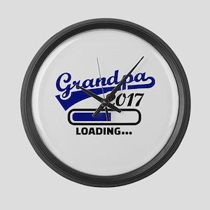 Grandpa 2017 Large Wall Clock