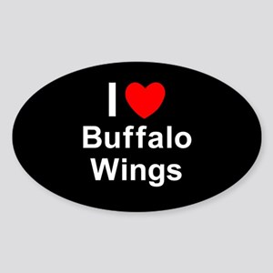 Buffalo Wings Sticker (Oval)