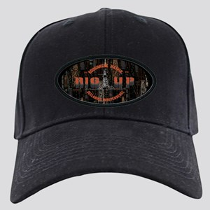 RIG UP OILFIELD LOGO Black Cap with Patch