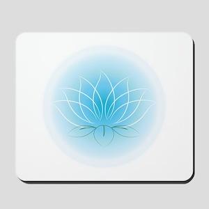 Blue Orb Lotus Mousepad