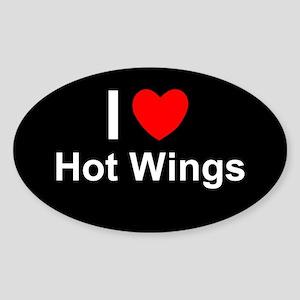Hot Wings Sticker (Oval)
